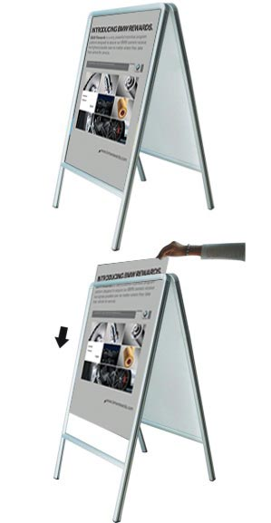 A-Frame Double-sided Sidewalk Poster Sign company las vegas henderson nv