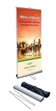 The Double Vision Double Sided Retractable Roll Up Banner Stand 33 x 78 banner company las vegas nv henderson